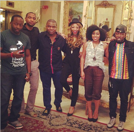Just Friends?  Ice Prince & Rita Dominic(spotted praying together)