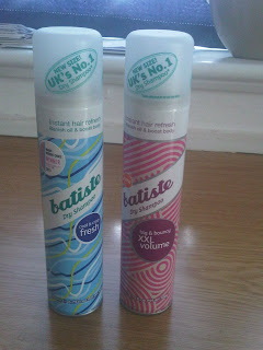Batiste dry shampoo cans
