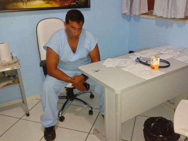Estudante se passa por médico e é preso na Bahia (Foto: Jackson Cristiano/Ubaitaba Urgente)