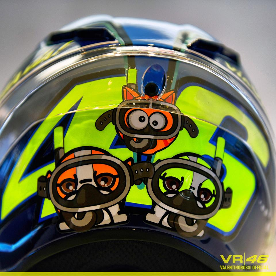 racing helmets garage agv pistagp v rossi misano 2015 by. Black Bedroom Furniture Sets. Home Design Ideas