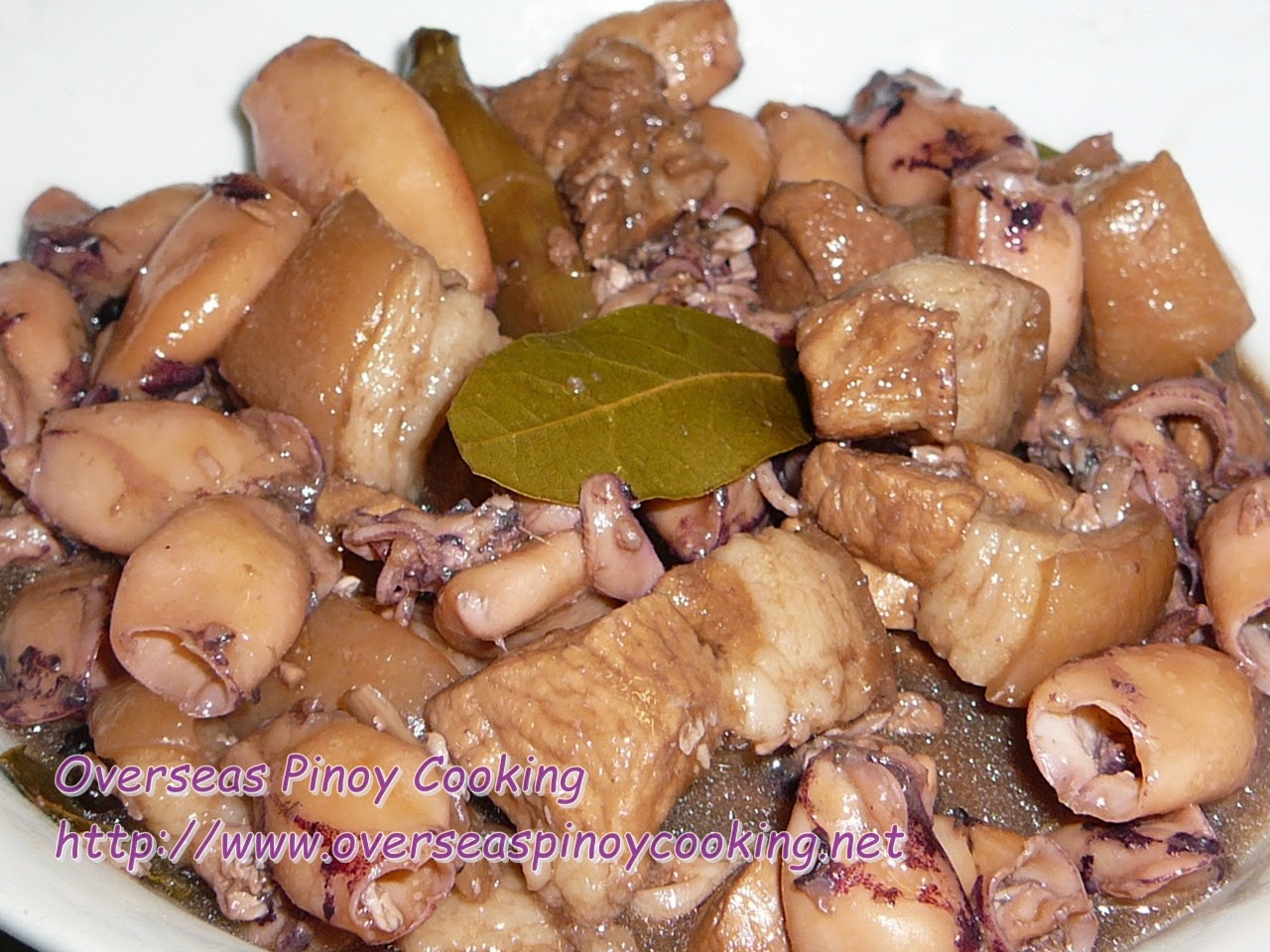 Adobong Pusit at Baboy, Squid and Pork Adobo