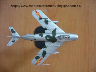 maqueta avión en miniatura 1/100 Italeri Mig-17F Fresco C Union Sovietica