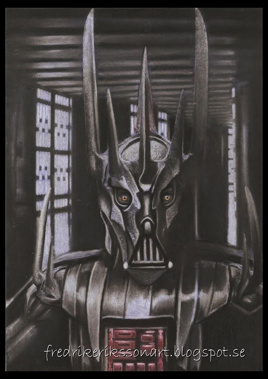 http://fredrikeriksson1.deviantart.com/art/Darth-Sauron-Star-Wars-Lotr-crossover-420718276