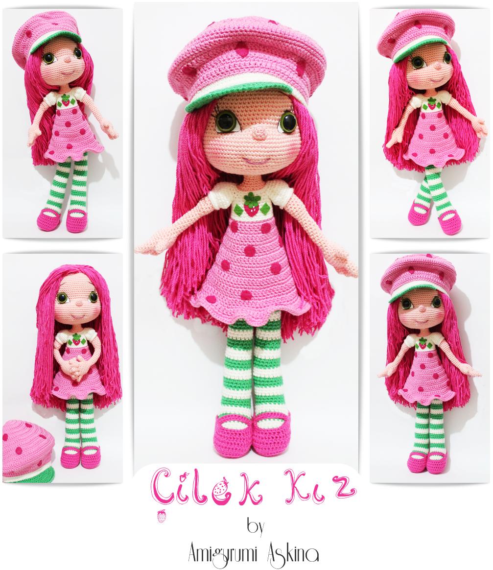 Amigurumi cilek Kiz- Strawberry Girl Amigurumi Askina ...