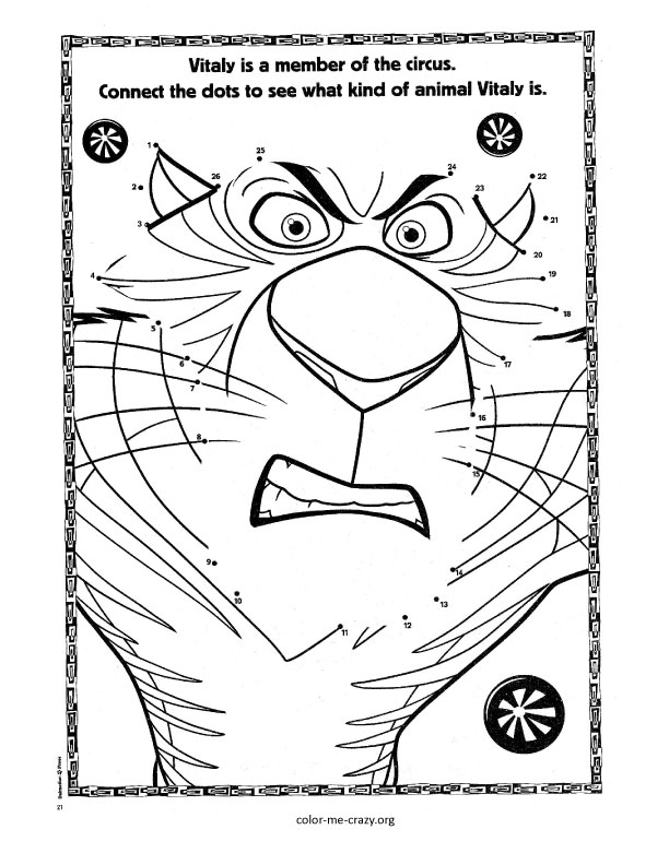madagascar 3 circus coloring pages - photo#4