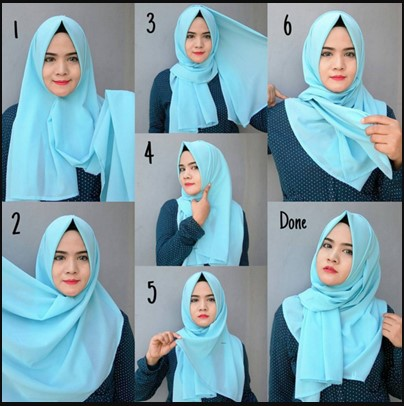 Tutorial Hijab Pashmina Nissa Sabyan Simple Model Trend Nissa Sabyan