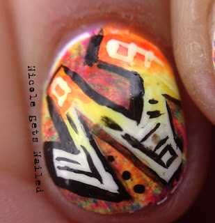 Graffiti Nail Art