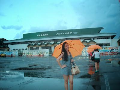Trisha Sebastian in Kalibo Airport