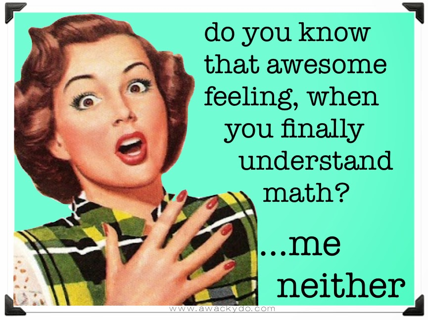 do you know that awesome feeling, when you finally understand math?  me neither.  Vintage lady with hand to her chest and a look of surprise
