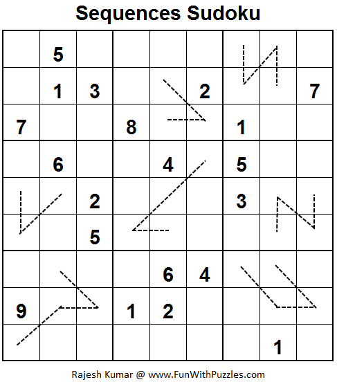 Sequences Sudoku  (Fun With Sudoku #61)