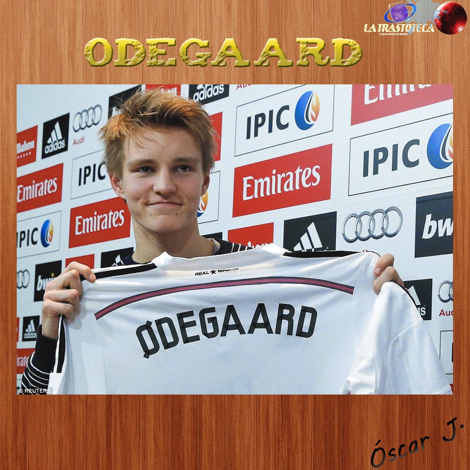 Odegaard nuevo fichaje del Real Madrid.