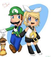 Daisy,Luigi y Rin