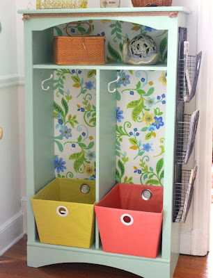 front hall organizer makeover