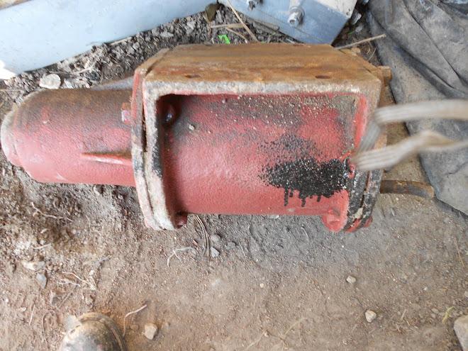 The brake cylinder.