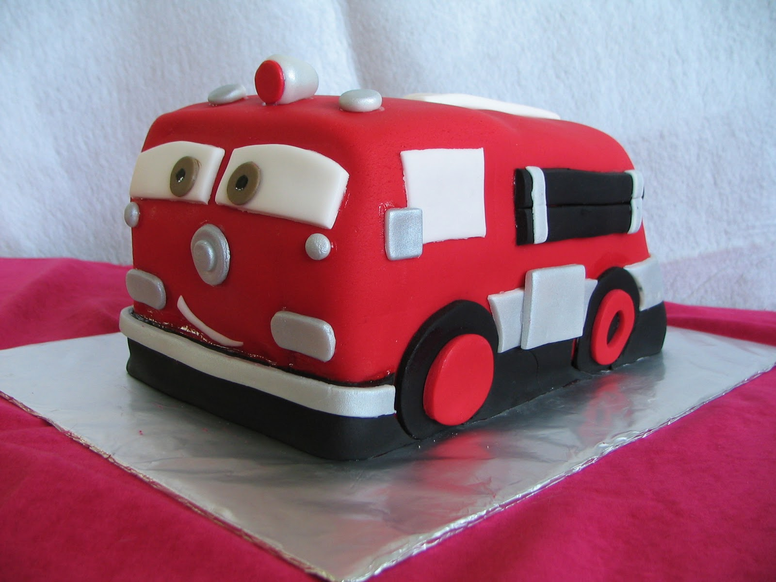 Piped Dreams Red Fire Truck From Cars Birthday Cake