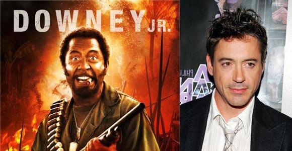 MixZoned  Actores con trasformaciones sorprendentes Robert Downey Jr Blackface