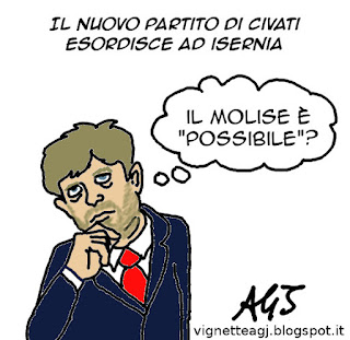 Civati, Molise, Possibile, satira, vignetta