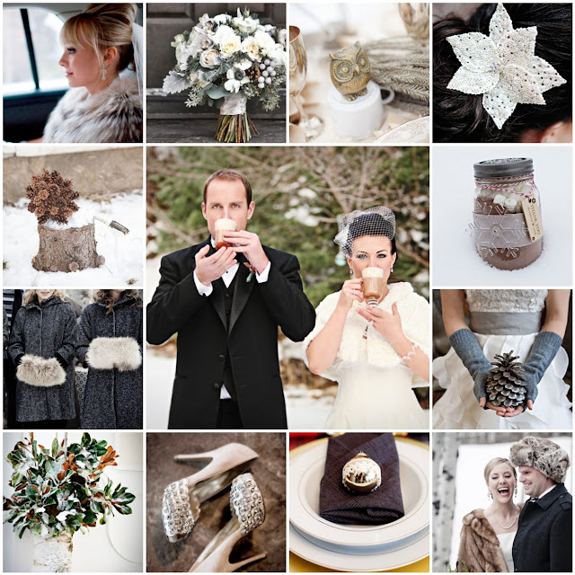 cozy winter wedding