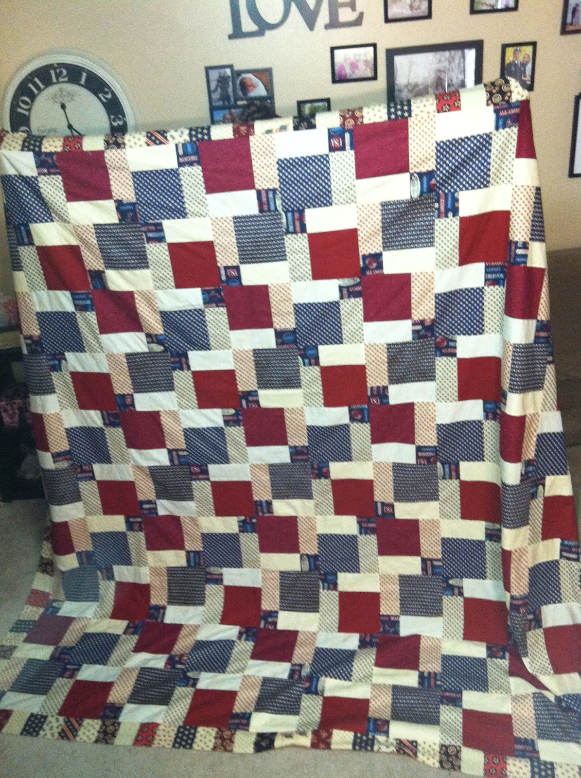 Super Easy Beginner Quilt Patterns : Growing with the Gardners: SUPER EASY QUILT PATTERN!!!! Disappearing 9-Patch.