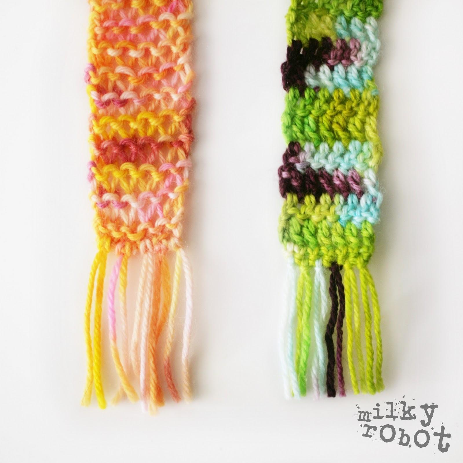 Knitting Pattern For Dolls Shawl : M I L K Y R O B O T : Doll Scarf Pattern - Crochet & Knit