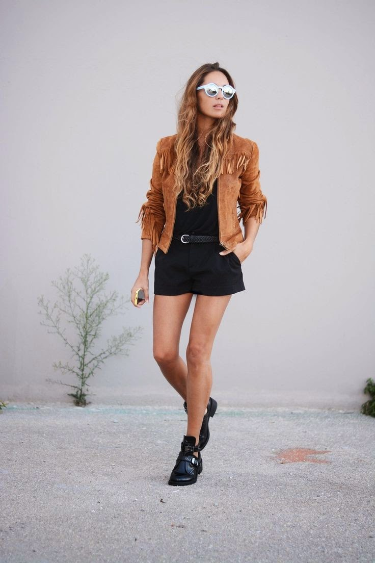Street style suede / ante