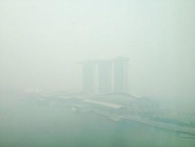 singapore haze marina bay sands