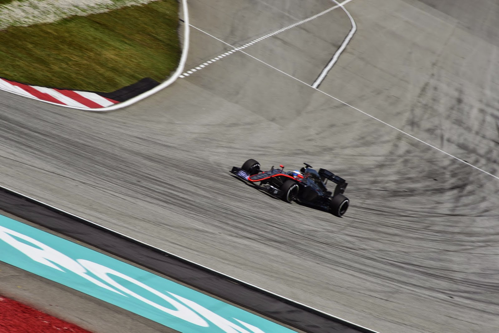 Alonso in McLaren F1 car