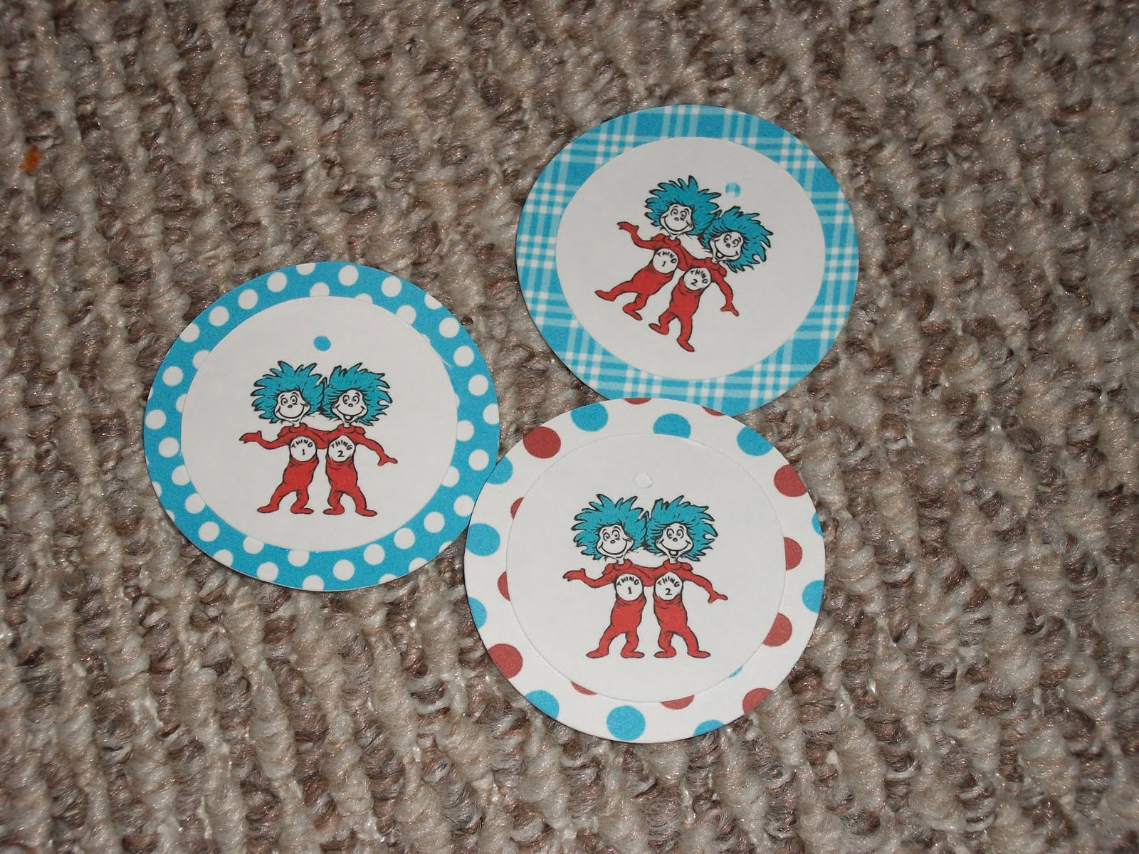 Always Homemade Thing1 and Thing 2 Baby Shower Invites
