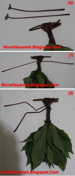 langkah-langkah cara membuat mainan tradisional anak berupa wayang dari daun singkong 4
