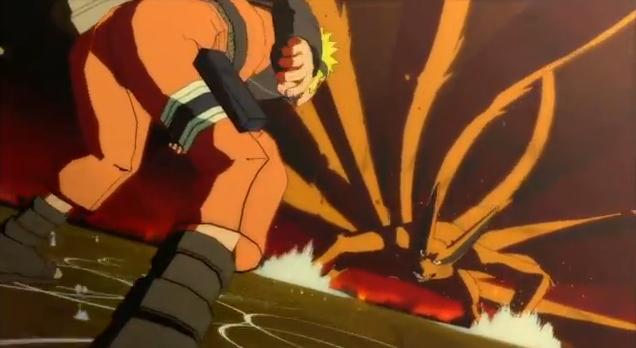Naruto Shippuden Ultimate Ninja Storm 3 War Begins Game Trailer featuring Naruto versus Kyuubi Nine Tails Boss Battle