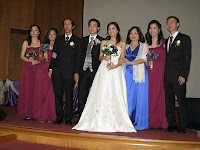 The newlyweds with their family members
