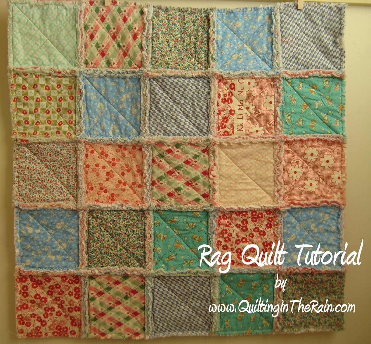 Rag Quilt | Quilting in the Rain : rag quilt pattern instructions - Adamdwight.com