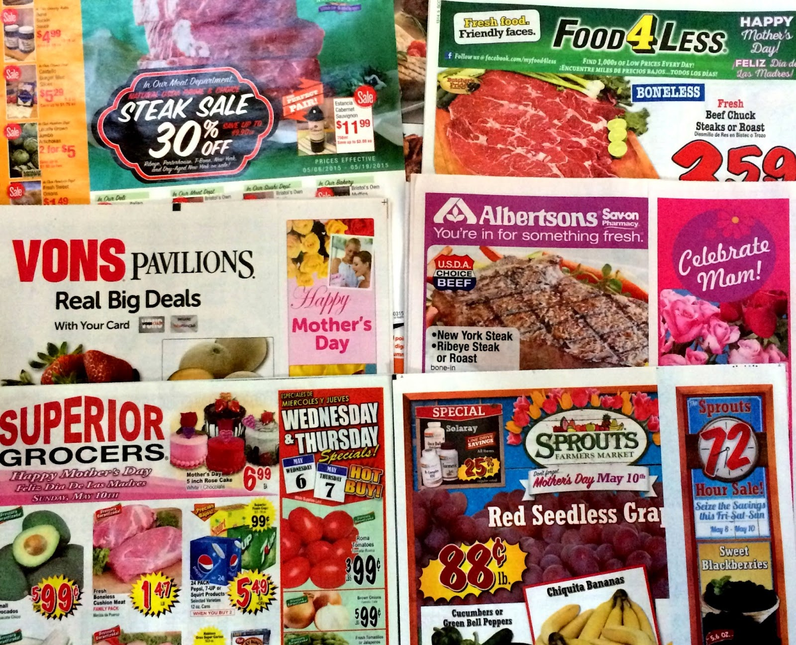 bright picture of grocery store sale mailers