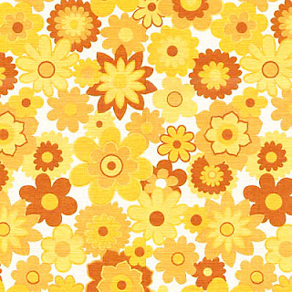 Flowery sixties wall paper