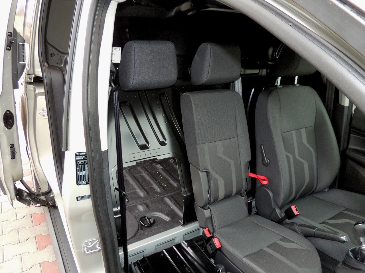Ford Transit Connect - składane oparcie fotela pasażera
