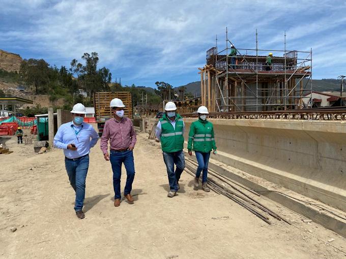 Intercambiador Nobsa - Sogamoso ya tiene terminada la cimentación en un 100%