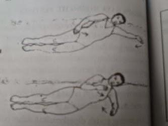ayunan kaki menggunting gaya miring