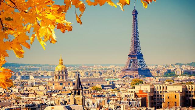 Paris eiffel tower autumn HD Wallpaper