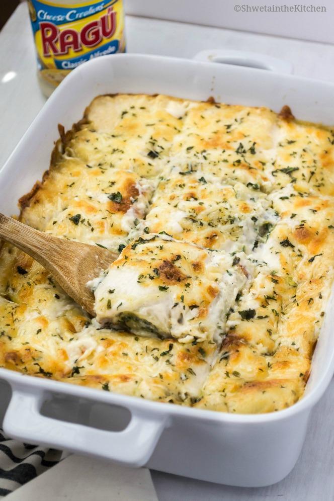 Shweta in the KitchenCreamy Mushroom and Spinach Lasagna Recipe