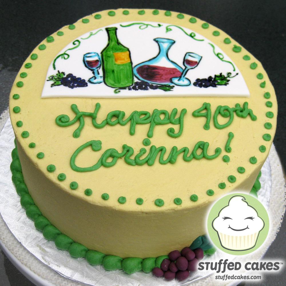 Stuffed Cakes Vino Lovers Birthday Cake