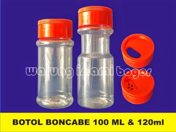 Jual Botol Bumbu BONCABE 120ml Tutup Geser Lubang Kecil Kecil