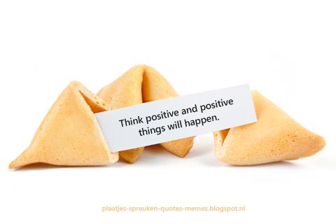 positieve spreuken in gelukskoekjes