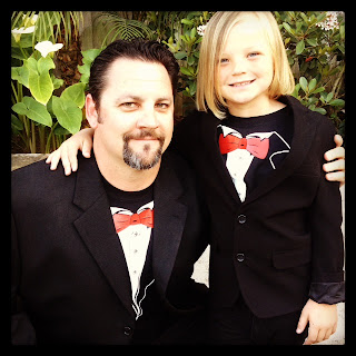 Tuxedo Tee Shirts at a Father Daughter Dance