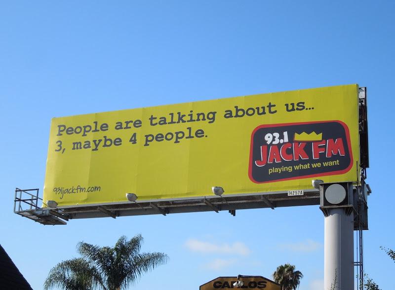 Jack FM radio billboard