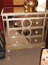 Small Mirrored Three Drawer Chest