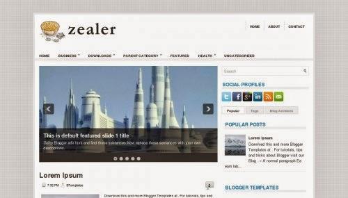 Zealer - Free Blogger Tempalte