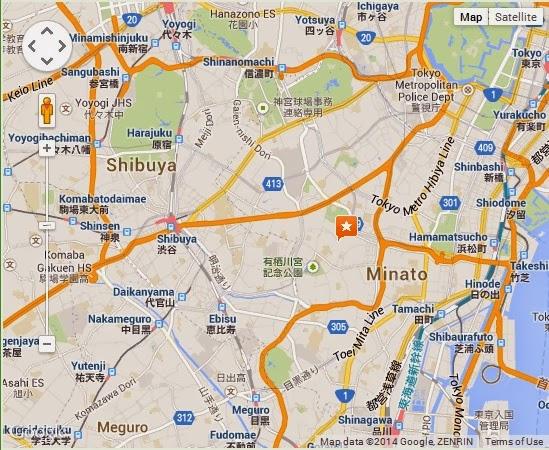 Detail Toho Cinemas Roppongi Hills Tokyo Location Map PORTAL BJ