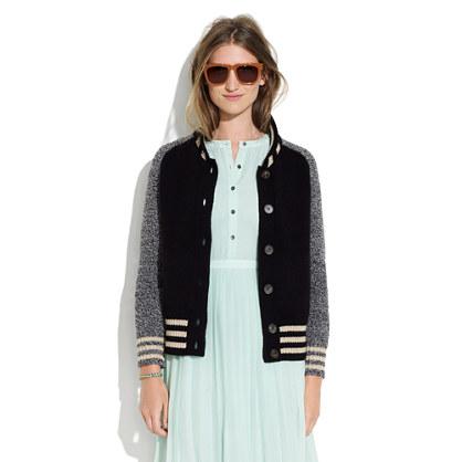 Madewell Letterman Sweater Jacket 81
