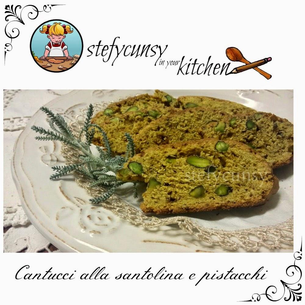 Stefycunsyinyourkitchen cantuccini alla santolina e pistacchi - Santolina in cucina ...
