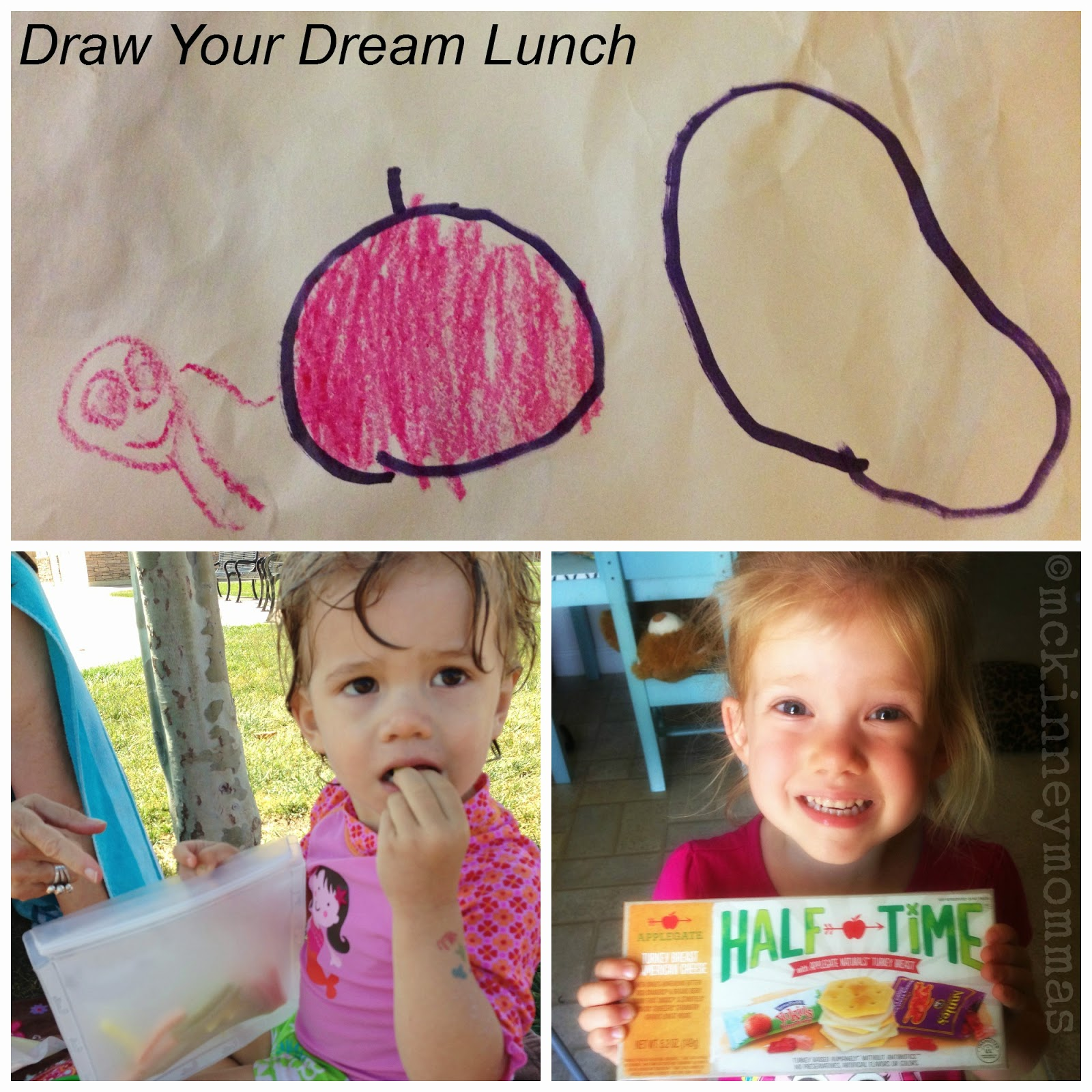 Annie's homegrown, Applegate Half Time Lunch Kit, Blue Avocado Rezip Bag